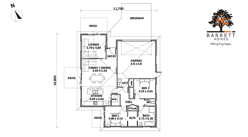 Floor Plan (Lot 12 Highfields, Katikati)