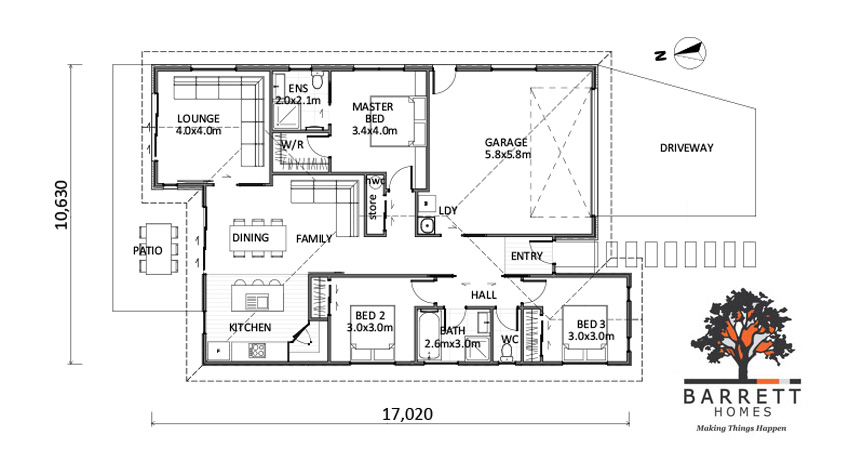 Floor Plan (Lot 1 Highfields, Katikati)
