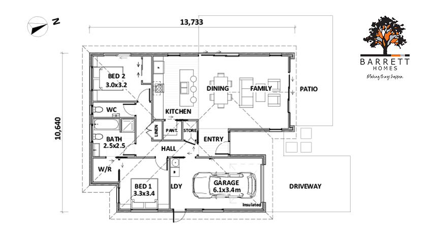 Floor Plan (Lot 1 Sunshine Court)