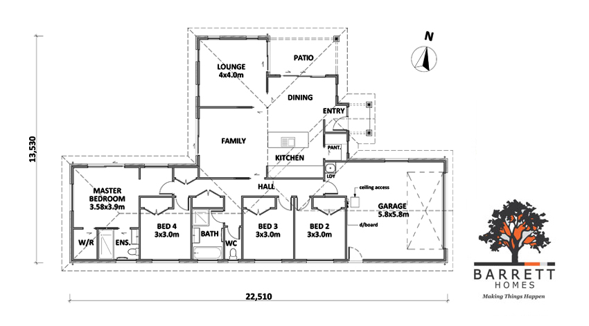Floor Plan (Lot 51 Bush Haven)