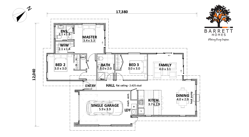 Floor Plan (Lot 541 The Lakes v2)