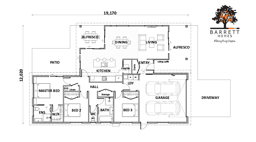 Floor Plan (Lot 74 Gair Estate)