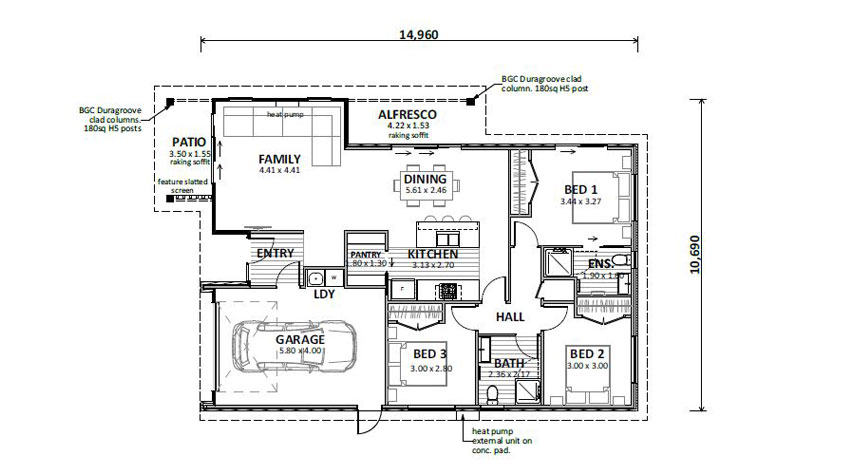 Floor Plan (Lot 751 Golden Sands)