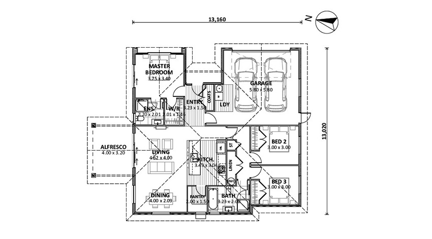 Floor Plan (Lot 1 Heron View)
