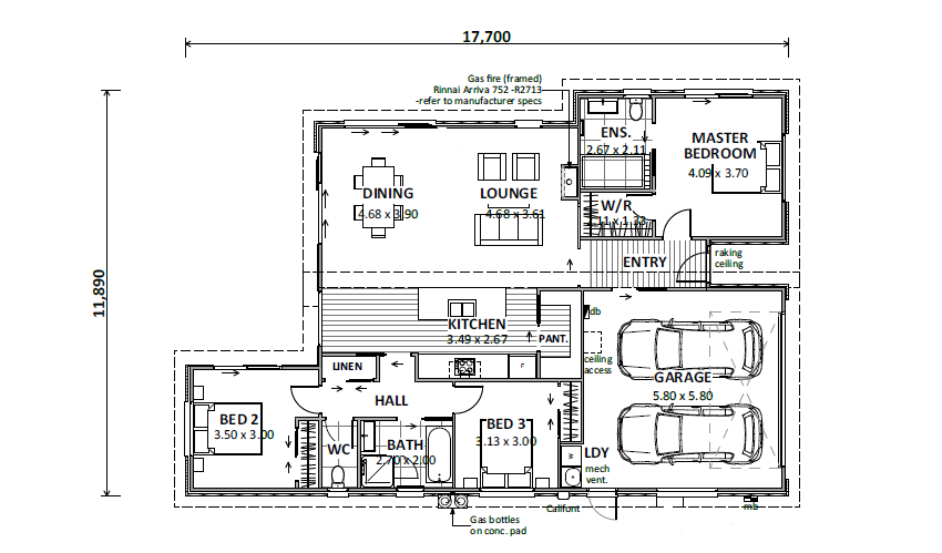 Lot 53 Gair Estate House Floor Plan