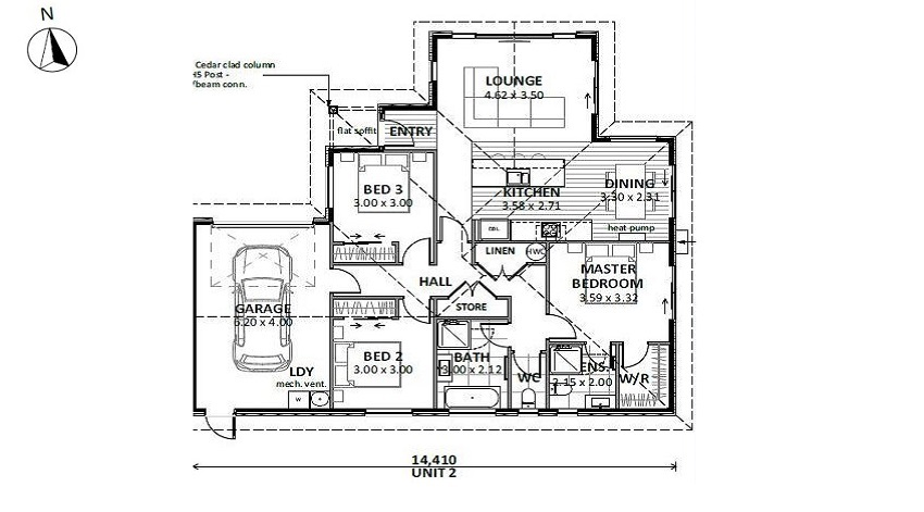 Lot 1 Floor Plan - Unit 2 only