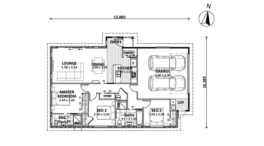 Floor Plan (Lot 13 Heron View)