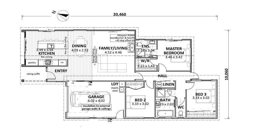 floor plan Lot 42 Gair Estate