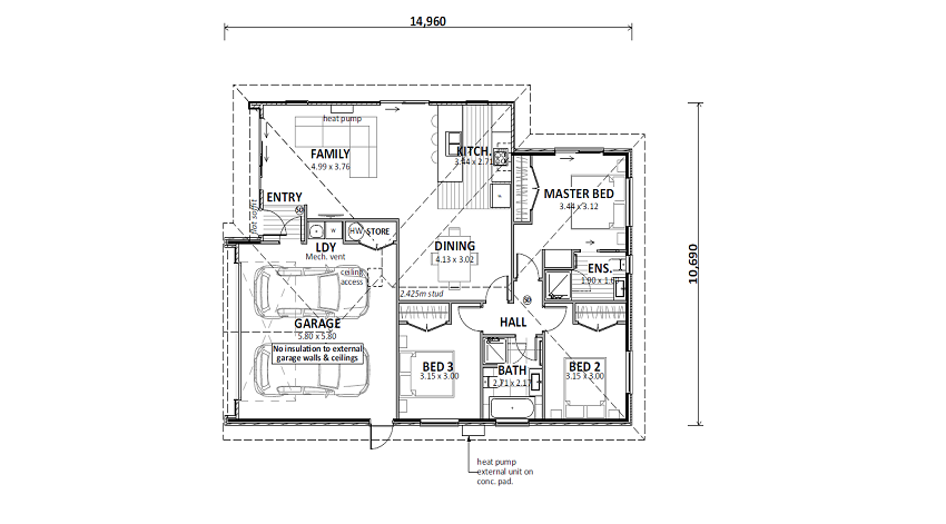 Lot 57 Tiaki Rise Floor plan
